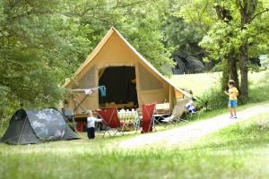 Tente trappeur - camping drome provencale - la Ferme de Clareau